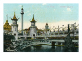 Coney Island, New York - Luna Park Scene Print by  Lantern Press