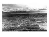 Spenard, Alaska - Aerial View of Town Prints