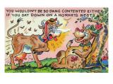 Comic Cartoon - Cow That Sat in a Hornet's Nest Stampe di  Lantern Press
