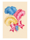 Red, Yellow, Blue Hat Feathers Prints