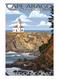 Cape Arago Lighthouse - Oregon Coast Prints by  Lantern Press