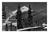 Georgetown, Colorado - Mt Bethel Winter and Summer View Prints by  Lantern Press