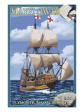 Plymouth, Massachusetts - Mayflower Poster by  Lantern Press