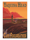 Yaquina Head Lighthouse - Cape Fowlweather, Oregon Affiches par  Lantern Press