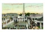 Kansas City, Kansas - Carnival Park; View of Lake and Chutes Poster by  Lantern Press