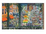 Lantern Press - New Orleans, Louisiana - Mardi Gras Parade; Rex Greets Subjects - Poster