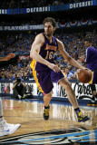 Los Angeles Lakers v Dallas Mavericks - Game Three, Dallas, TX - MAY 6: Pau Gasol Photographic Print by Glenn James