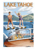 Lake Tahoe, California - Water Skiing Scene Print