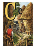 C For the Corn That Stands In the Stack Prints by Edmund Evans