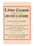 Lime Cream Posters