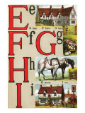 E, F, G, H, I Illustrated Letters Print by Edmund Evans