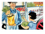 Buying Vegetables Print by Julia Letheld Hahn