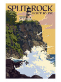 Split Rock Lighthouse - Minnesota Posters by  Lantern Press
