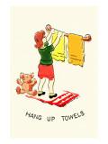 Hang Up Towels Print