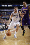 Los Angeles Lakers v Dallas Mavericks - Game Three, Dallas, TX - MAY 6: Peja Stojakovic and Matt Ba Photographic Print by Danny Bollinger