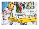 Goldilocks And the Poridge Bowls Prints by Julia Letheld Hahn