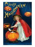 Jolly Hallowe'en Art by Ellen M. Clapnoddle