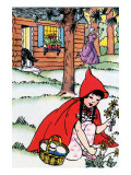 Little Red Riding Hood Picks Flowers Posters by Julia Letheld Hahn