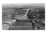 Fort Peck, Montana - Aerial View of Dam and Spillway Prints by  Lantern Press