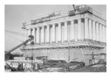 Lincoln Memorial Undergoes Construction Premium Giclee Print