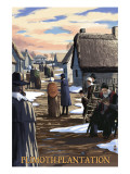 Plimoth Plantation, Massachusetts Scene Prints