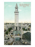 Chicago, Illinois - White City Amusement Park; View of Electric Tower and Chutes Posters
