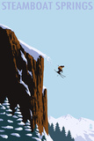 Skier Jumping - Steamboat Springs, Colorado Poster