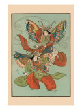 Silk Moth Dancers Prints