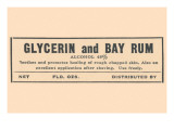 Glycerin And Bay Rum Art