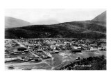 Skagway, Alaska - Panoramic View of Town Posters