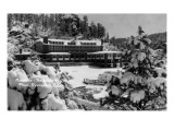 Evergreen, Colorado - Troutdale-at-the-Pines in Midwinter Prints by  Lantern Press