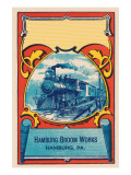 Steam Engine Broom Label Prints