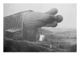 Clement Bayard Dirigible Half Way In Hangar Poster