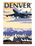 Denver, Colorado - Airport View Prints by  Lantern Press