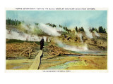 Yellowstone Nat'l Park, Wyoming - Norris Geyser Basin Scene Print by  Lantern Press