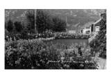 Skagway, Alaska - View of Blanchard Gardens Art by  Lantern Press