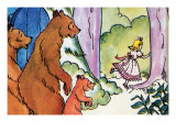 Goldilocks Flees Print by Julia Letheld Hahn