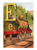 E For the Engine That's Lighted With Coke Posters by Edmund Evans
