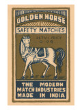 Golden Horse Safety Matches Prints