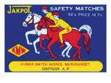Jakpot Safety Matches Posters