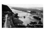 Prairie du Chien, Wisconsin - View of the Mississippi Suspension Bridge Poster by  Lantern Press
