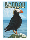 Bandon, Oregon - Puffin Posters by  Lantern Press