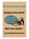 New York Central System Water Level Route Posters