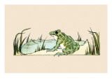 Pond Frog Posters by Frances Beem