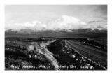 Alaska - Mt McKinley Nat'l Park View of the Mountain Print by  Lantern Press