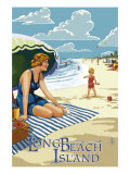 Long Beach Island, New Jersey Beach Scene Prints by  Lantern Press