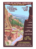 Bandelier National Monument, New Mexico - Day Scene Poster by  Lantern Press