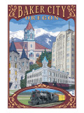Baker City, Oregon - Town Views Posters by  Lantern Press