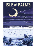 Isle of Palms, South Carolina - Turtles Hatching Prints by  Lantern Press