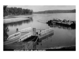 Norfork Lake, Arkansas - View of Henderson Ferry on Lake Prints by  Lantern Press